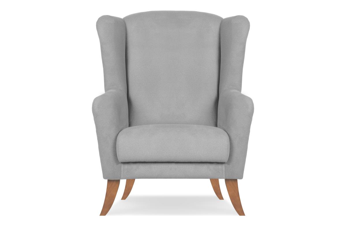 Skandynawski fotel uszak  szary