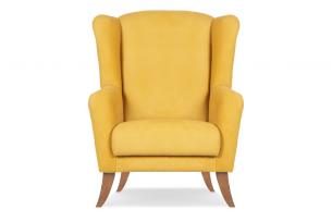 LAMBER, https://konsimo.pl/kolekcja/lamber/ Skandynawski fotel uszak żółty żółty - zdjęcie