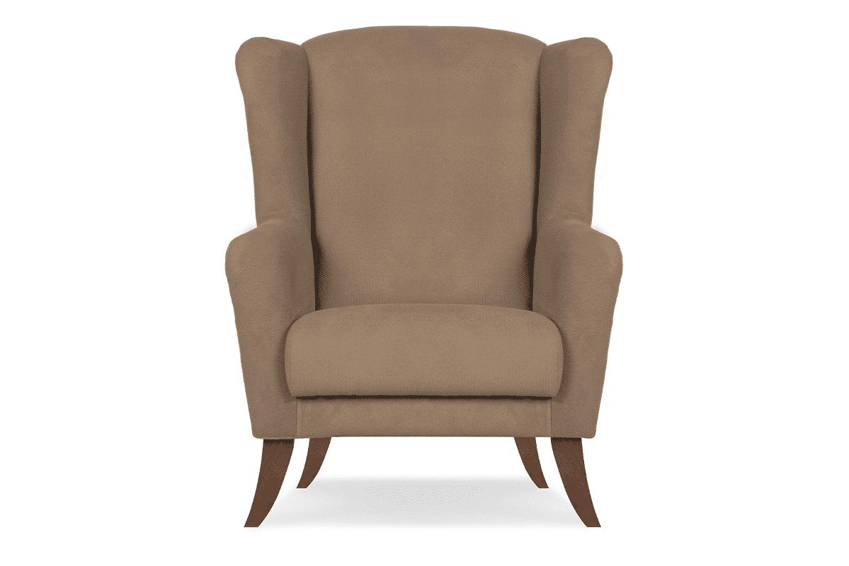 Skandynawski fotel uszak beżowy