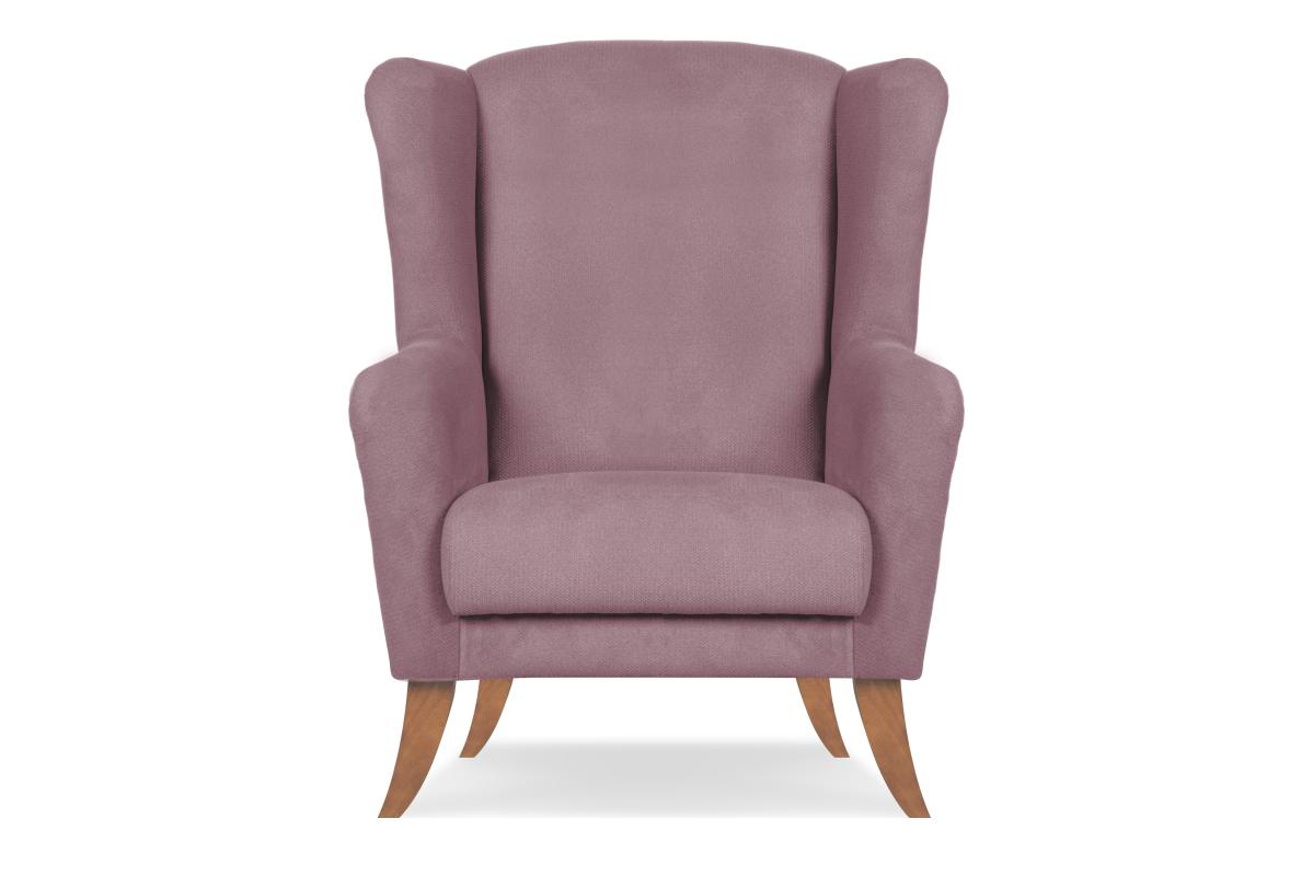 Skandynawski fotel uszak różowy