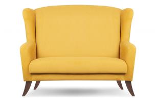 LAMBER, https://konsimo.pl/kolekcja/lamber/ Skandynawska sofa uszak żółta żółty - zdjęcie